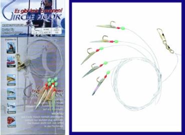 5 Stück Heringspaternoster Heringsvorfach 5 Circle Hook #8