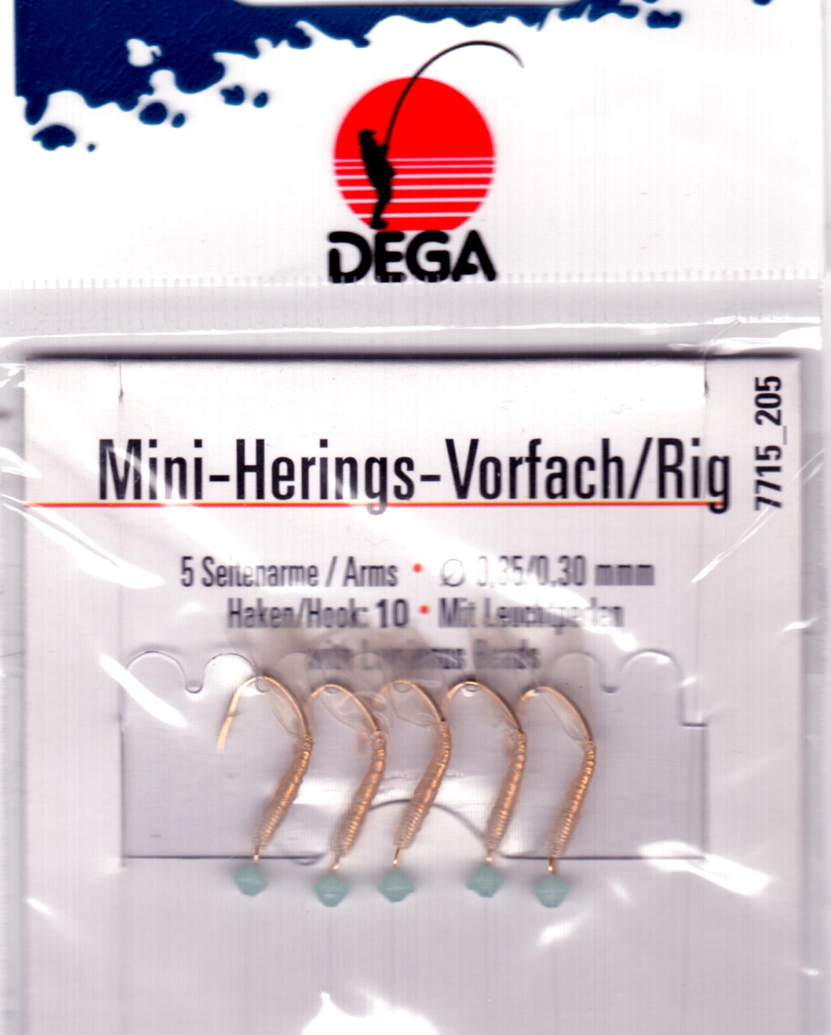 DEGA Heringsvorfach mit echter Fischhaut Heringspaternoster Hering Meeresvorfach